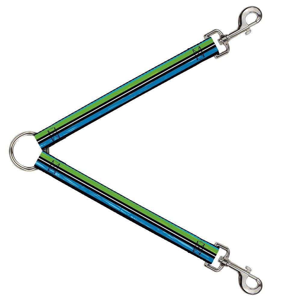Buckle-Down DLS-W31984 Leash Splitter-Scribble Stripes bluee Green White, 1  W-30  L