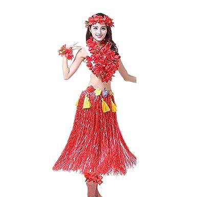 Prettycos Hawaiano Hula Vestido Falda Hierba Guirnaldas de ...