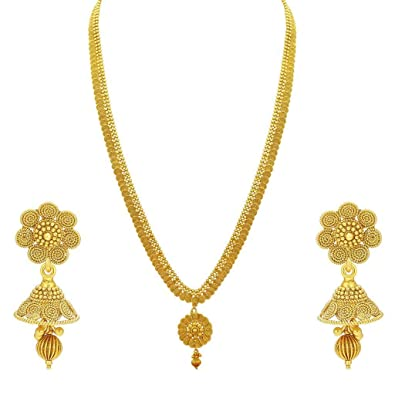 8e8b2a80efc59 Sukkhi Collection Jewellery Sets for Women (Golden) (2930NGLDPP3900)