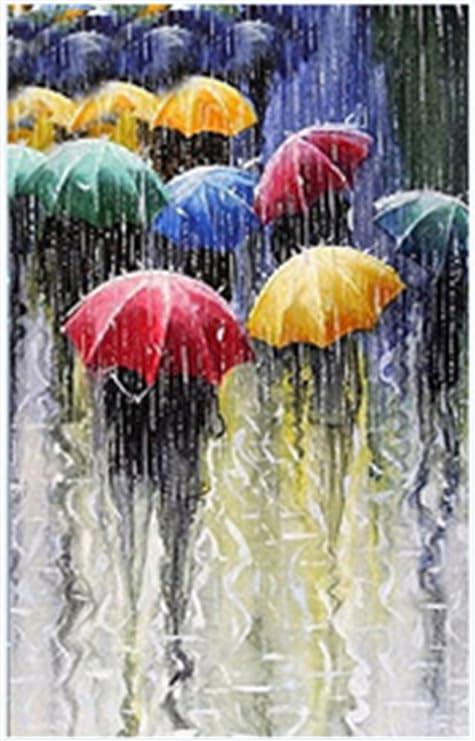 hacer cuadro Cuadro De Paraguas En La Lluvia Para Hacer Tu Mismo Manualidades Arte Con Cristales De Apariencia Diamantes Decoracin De Pared 30 X 40 Cm De