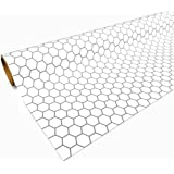 White Gaming Paper 1in Hexes 30in x 12ft 1 Roll