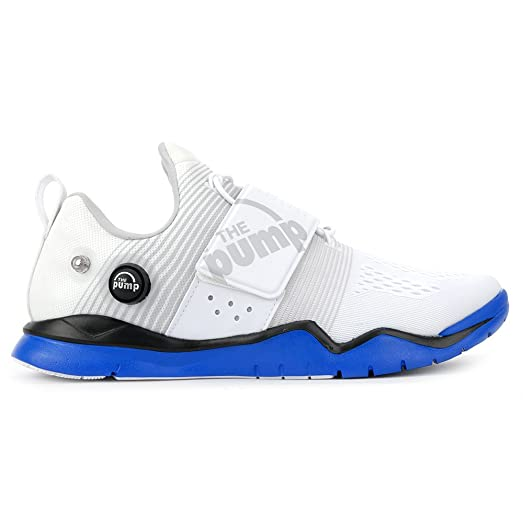 Reebok Men's Zpump Fusion TR Training Shoe, White/Black/Blue Sport/Steel