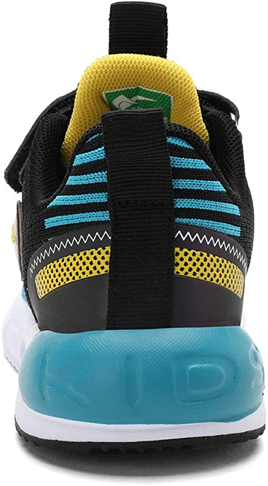 kulebear Kids Sneakers Hiking Running Tennis Sports Childrens School Casual Shoes Breathable Reflective Fashion Shoes for Boys Girls