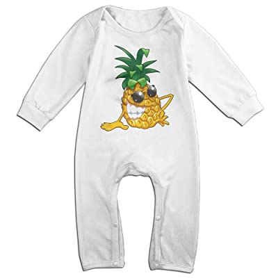Baby Pineapple Moisture Wicking Comfortable Baby One-Pieces Adorable White 6 M