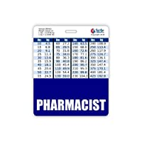 Pharmacist Badge Buddy Horizontal w/Height & Weight Conversion Charts (Oversized, Navy)