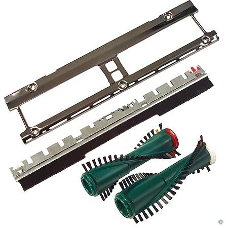 Service Set Blech Frontbürste Bürsten Ersatzbürsten passend für Vorwerk Kobold 130 131 135 mit Elektrobürste EB 350 und EB 35