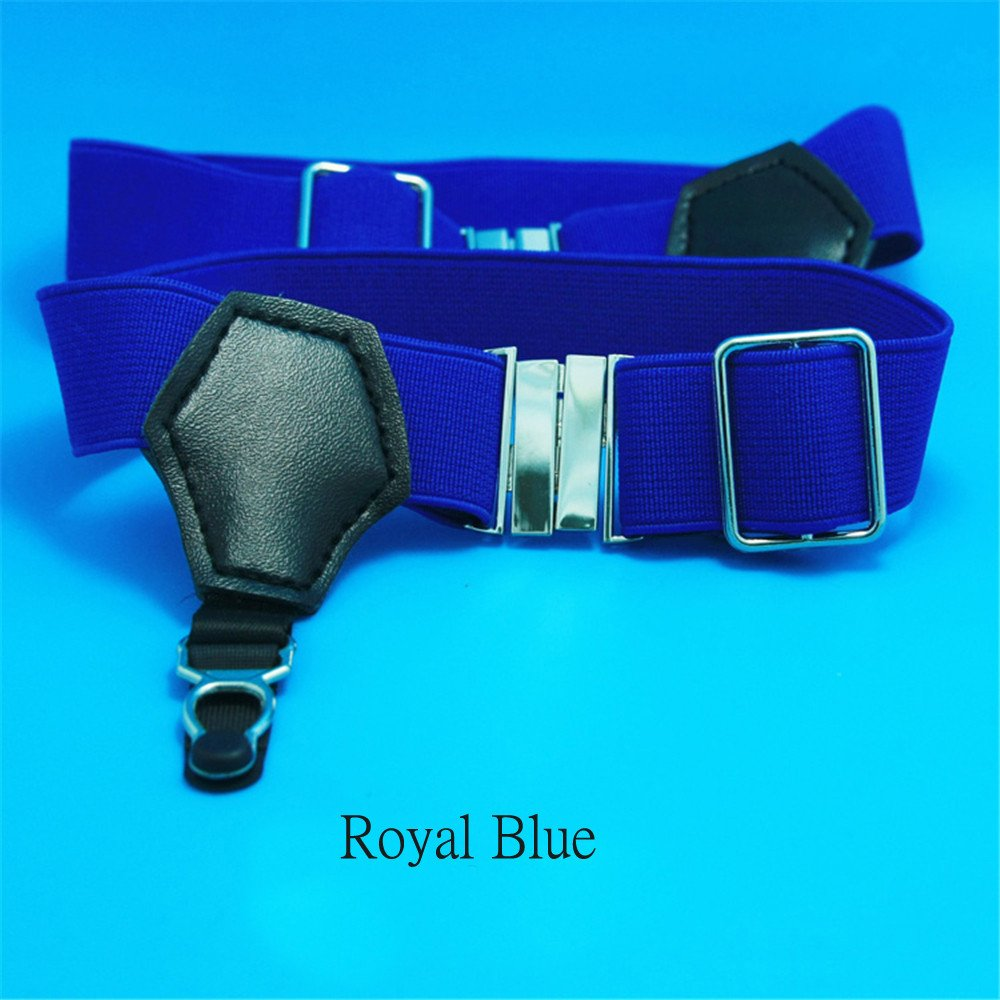 1Pair Sexy Men's Sock Garters Pin Grip Suspender Accessories Royal Blue DOREKIN