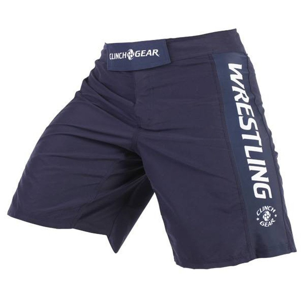 Clinch Gear - Performance Wrestling Shorts, Navy 30 by Clinch Gear
