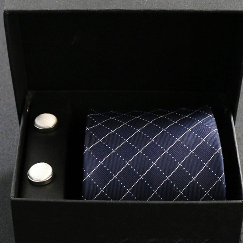 K Tie 100% Silk Suit Business Wedding ArrowShaped Multicolor Variety Set  Tie+Cufflinks, 8  145cm
