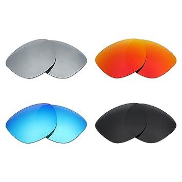 MRY 4 Pares polarizadas Lentes de Repuesto para Oakley Frogskins LX Sunglasses-Stealth Negro/