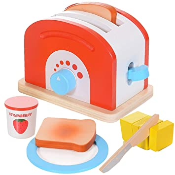 LCP Kids Toaster 10 teiliges Kinder Spielzeug Set aus Holz ...