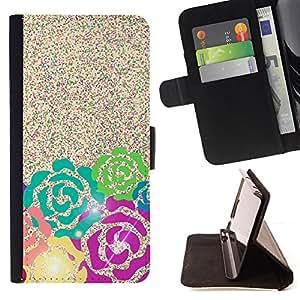 "For HTC One A9,S-type Glitter Pink Teal Espumoso verde"" - Dibujo PU billetera de cuero Funda Case Caso de la piel de la bolsa protectora"
