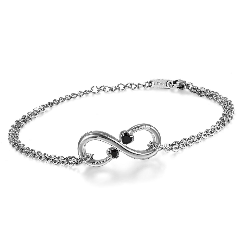 Argent Homme Amour D'amitié Femmele Et D Choix Symbole Au Bracelet uK1c5TF3lJ