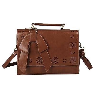 Gutscheincode 1bb07 a0c6f ECOSUSI Damen Handtasche aus Leder, Vintage-Stil