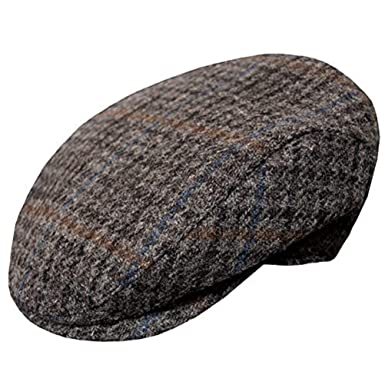 d7836f008f534 Wigens Vilgot Grey Check Harris Ivy Slim Tweed Cap at Amazon Men s Clothing  store