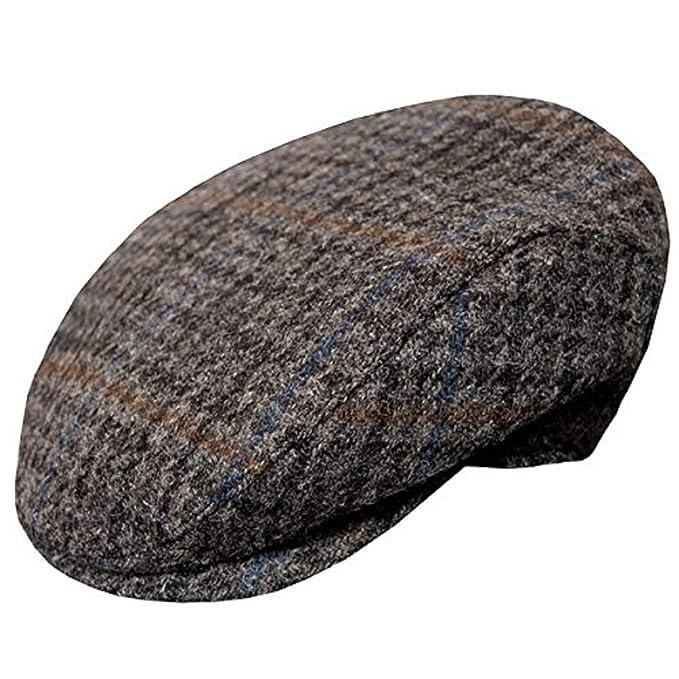 Wigens Vilgot Grey Check Harris Ivy Slim Tweed Cap at Amazon Men s Clothing  store  dd3a7cd75300