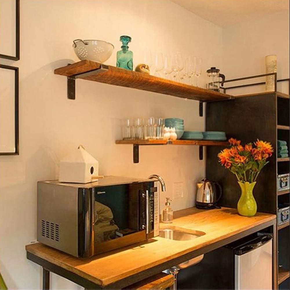 Montado en la pared rústica flotante con estantes 2 del capítulo del metal, estante de exhibición de pared Decoración estantes flotantes de almacenamiento de madera para el hogar,60*20*2cm: Amazon.es: Hogar