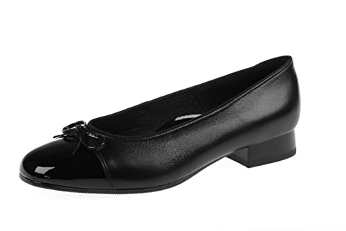 Womens/Ladies ARA Bari ballerina/ballet shoes with a bow on top (3