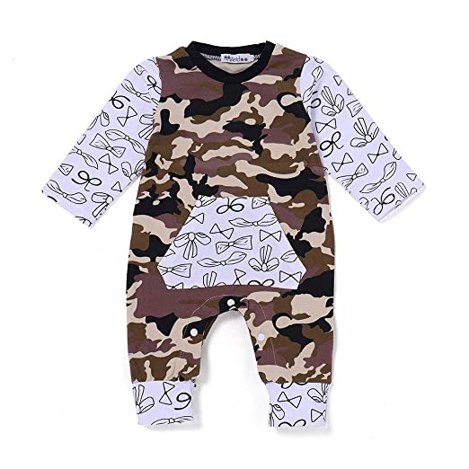 cd6a8dae3 Amazon.com  Sameno Toddler Infant Baby Boys Long Sleeve Camouflage ...