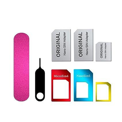 Hongfei Kit de adaptador de tarjeta SIM Convertidor de ...