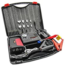 HyperPS 15000mah Multi-function Vehicle Car Jump Starter Portable Mobile Power Bank Battery Charger Emergency Kit with LED Torch Flashlight, Survival Hammer & Blade + 150 PSI Air Compressor Tire Pump