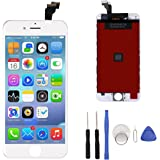iPhone 6 Screen Replacement,iPhone 6 LCD Display Touch Screen Digitizer Frame Full Set with Free Tools for iPhone 6 4.7 inch