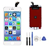 """Replacement Screen LCD Touch Display Screen Digitizer Frame Assembly for iPhone 6 4.7"""" with Tool Kit (White)"""