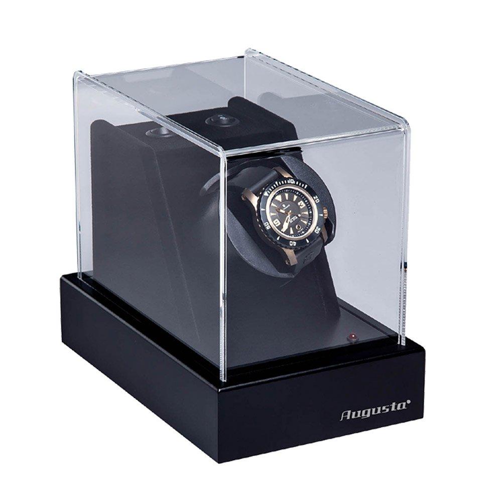AUGUSTA Uhrenbeweger fÜr 1 Uhr schwarz Hochglanzoptik mit Deckel