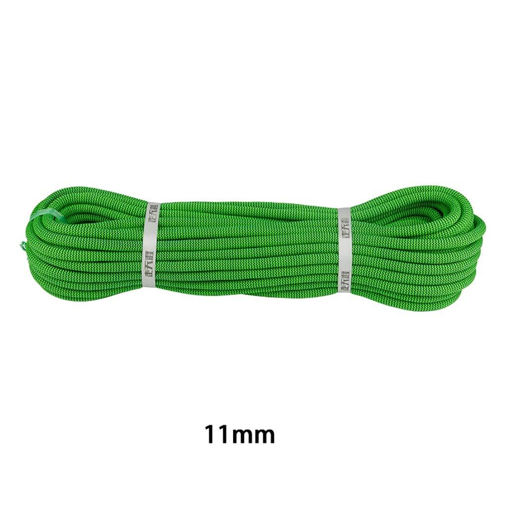 YYHSND Corde d'alimentation grimpante, diamètre 11mm, Vert Corde d'alpinisme (Taille   10M) 100M