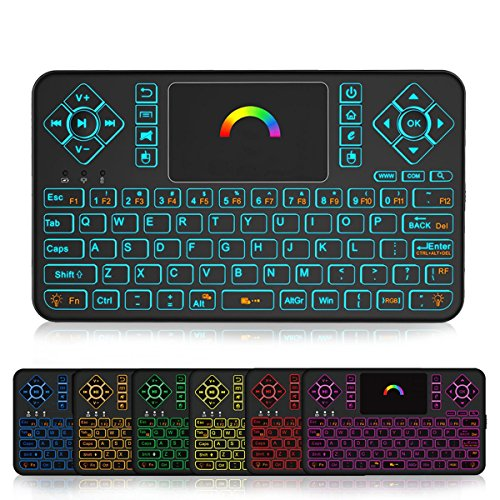 Mini Wireless Keyboard and Touchpad Mouse Combo With Colorful Backlit