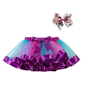 feiXIANG Ropa Infantil Niña Princesa Vestido Estrella Lentejuelas Princesa Tutu Fiesta de la Moda Falda de Baile Tutu Disfraces Negro Cinco Cyber ...