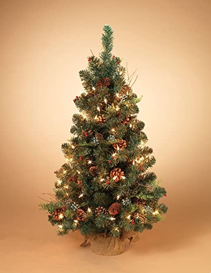 2 pre lit mixed pine and cedar christmas tree with white lights not battery
