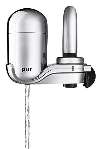 PUR 3-Stage Advanced Faucet Water Filter, 7.7-Inch by 3.2-Inch, Chrome