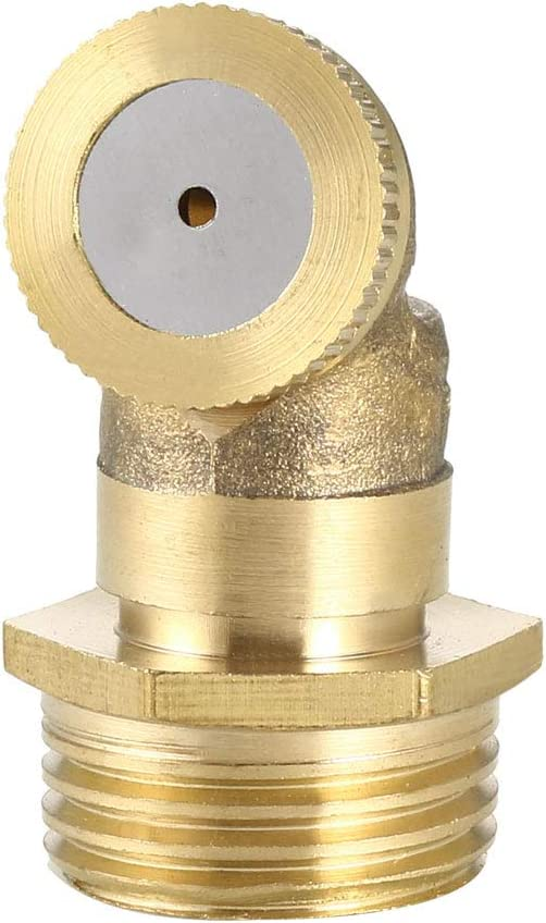 uxcell Misting Spray Nozzle, 1/2BSPF Brass 1 Hole Garden Sprinklers Irrigation Connector Fitting with Adapter