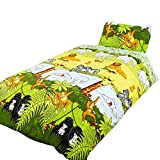 Cheeky Monkey Childrens/Boys Single (Twin) Duvet Cover Bedding Set (Twin) (Multicolored)