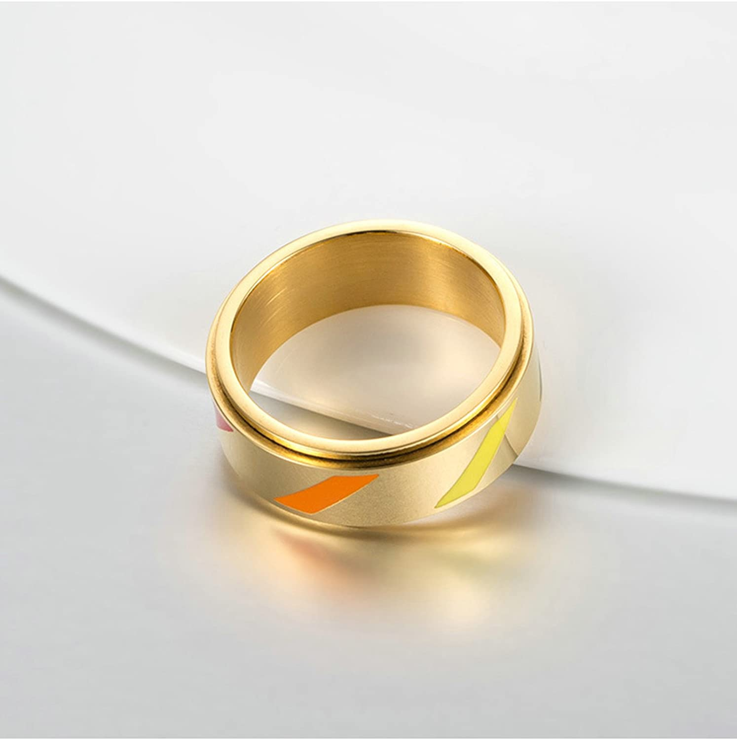Bishilin Stainless Steel Rings Wedding Gay Hochlganz Polished Round Wedding Rings and Bands Size 12