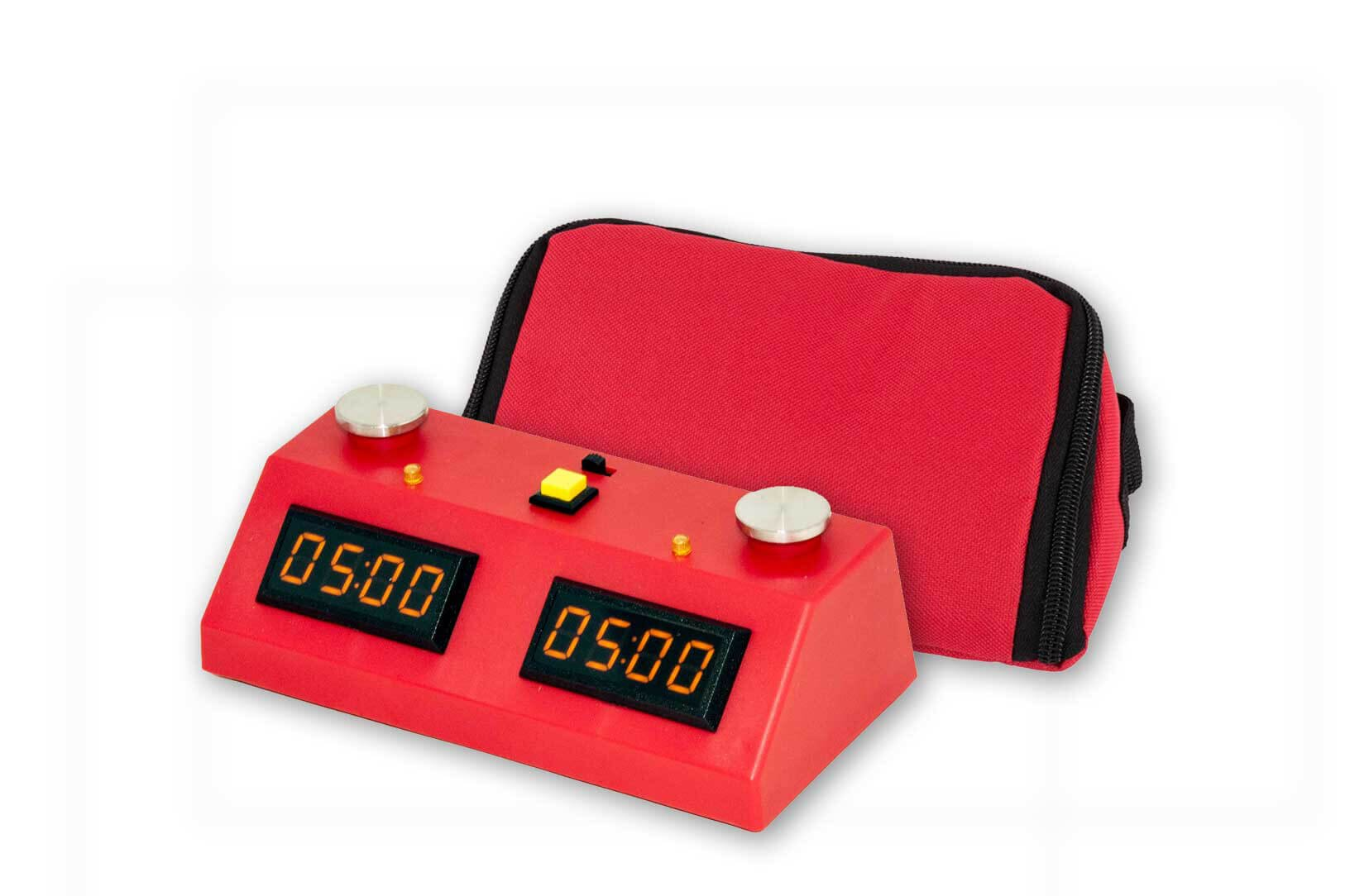 ZMart Fun II Digital Chess Clock - RED/RED with Wedge Bag