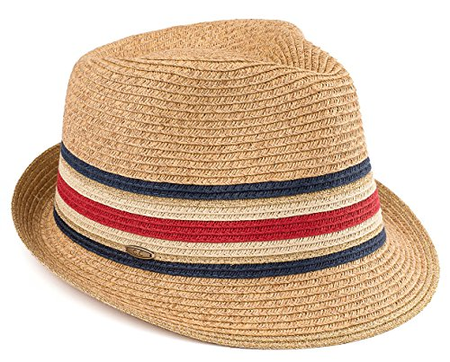 Funky Junque H-6108-32431 Fedora - Navy, White & Red Stripes