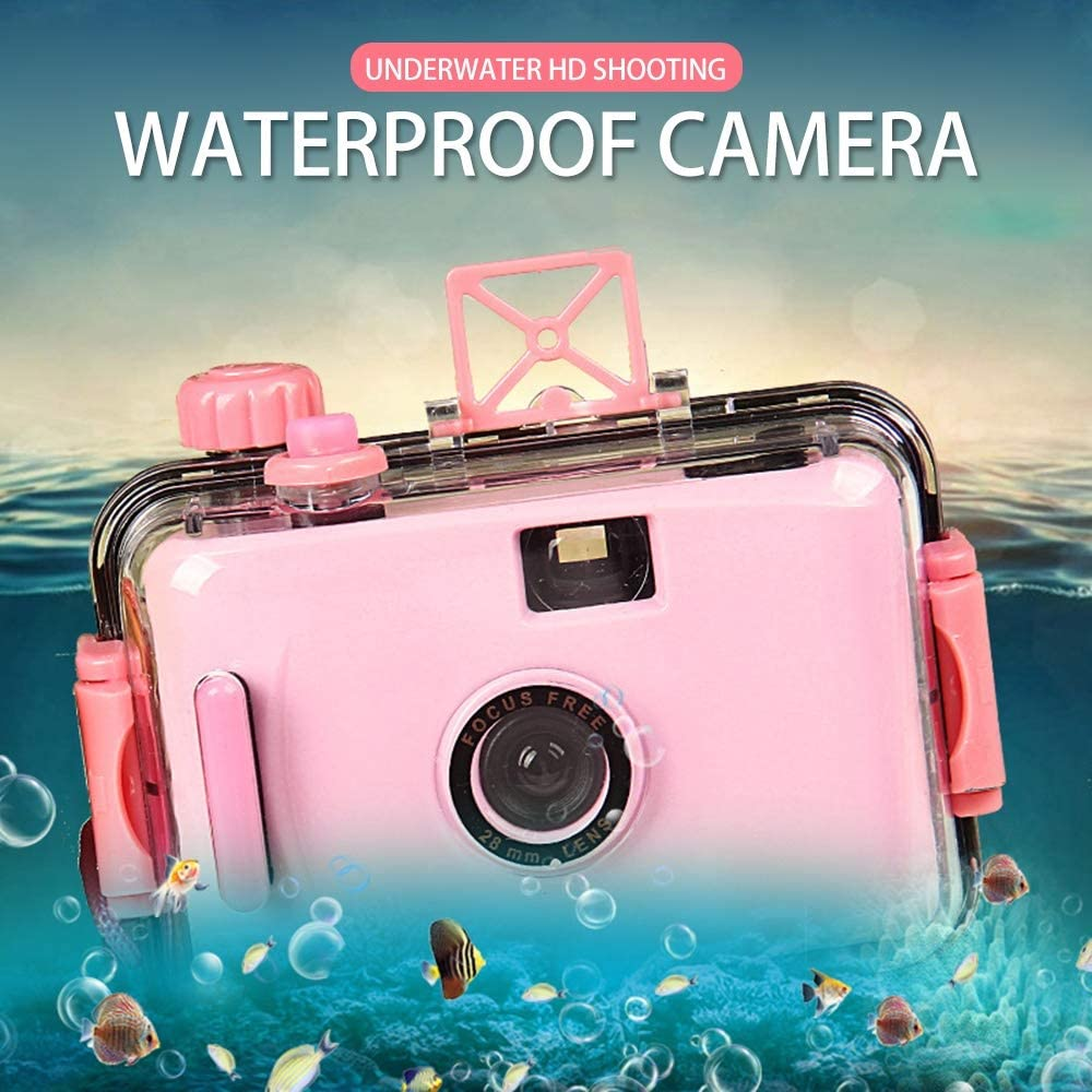 XSWY Childrens Camera Camara Non-Disposable Camera Film Camera LOMO Camera Waterproof and Shockproof Dropship Link Easy to use Color : Blue