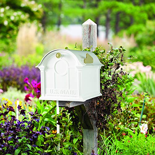 White By Whitehall Products Balmoral Mailbox