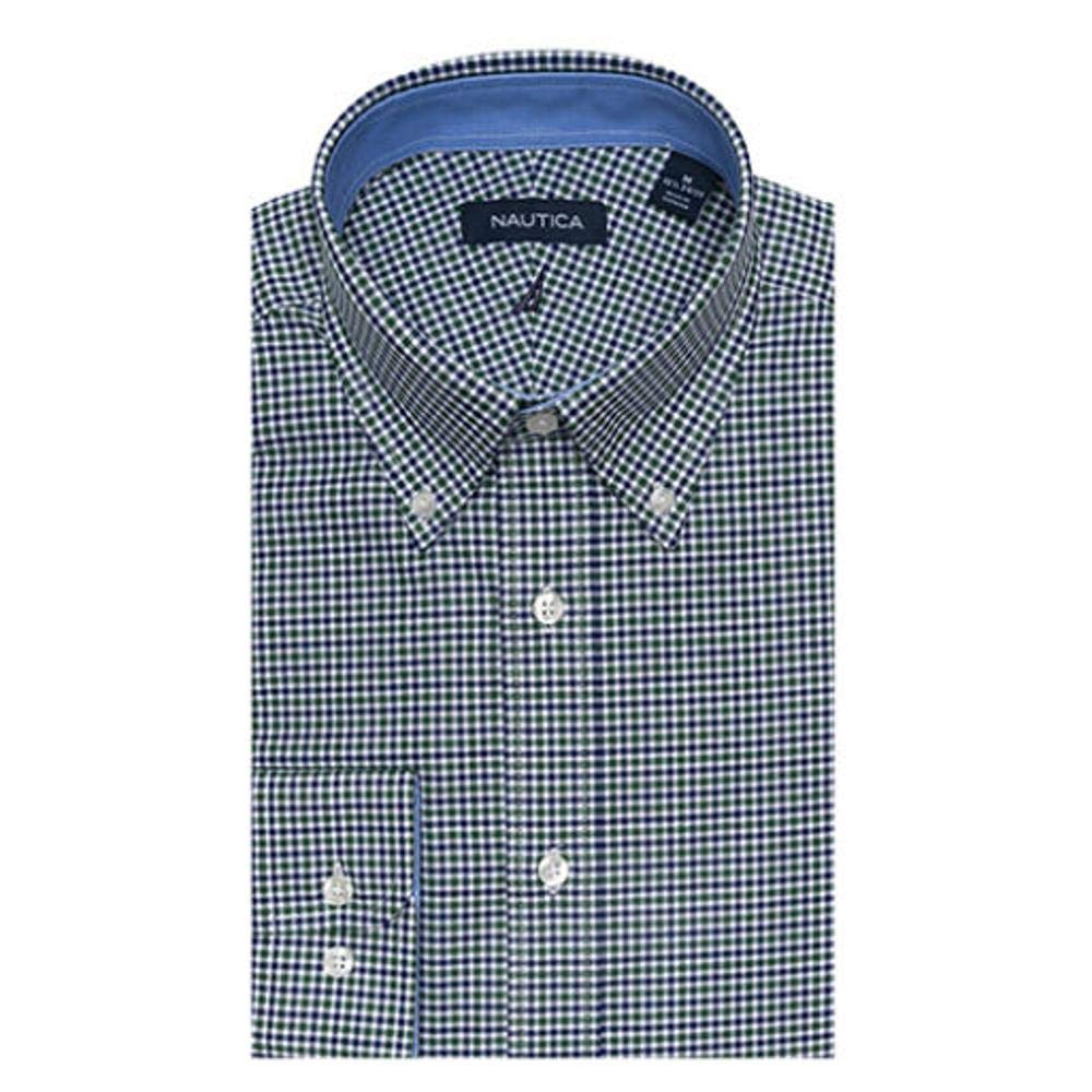 Nautica Men/'s Performance Active Stretch Long-Sleeve Wrinkle Free Wicking Button Down Shirt Casual Dress Shirts