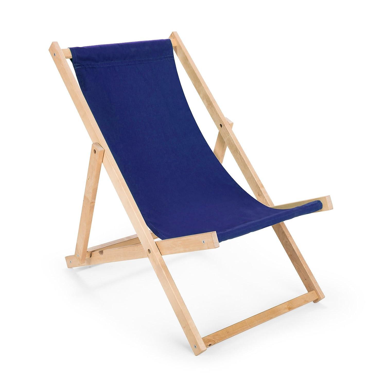 Amazon.de: Holz Sonnenliege Strandliege Liegestuhl aus Holz ...