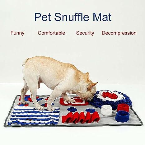 Felpudo para perro antideslizante, manta de entrenamiento para mascotas con olor a mascotas, alfombrilla de juego para perros, rompecabezas para aliviar el ...