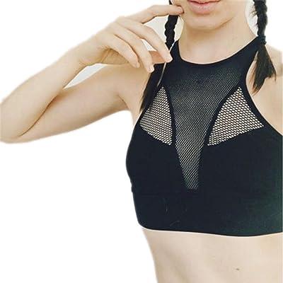 Hi-WISH Women Fitness Sports Bra Yoga Bras Mesh Running Bra Hollow Out Wide Elastic Lady Sportswear
