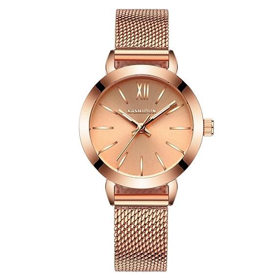acero moda mujer reloj/Simples chicas a prueba de agua reloj/ reloj de cuarzo