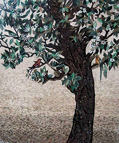 Mozaico Tree of Life Stone Tile Mosaic Wall Art Mural | Mosaic Designs | Mosaic Artwork | Mosaic Wall Art Handmade Mosaics | 39
