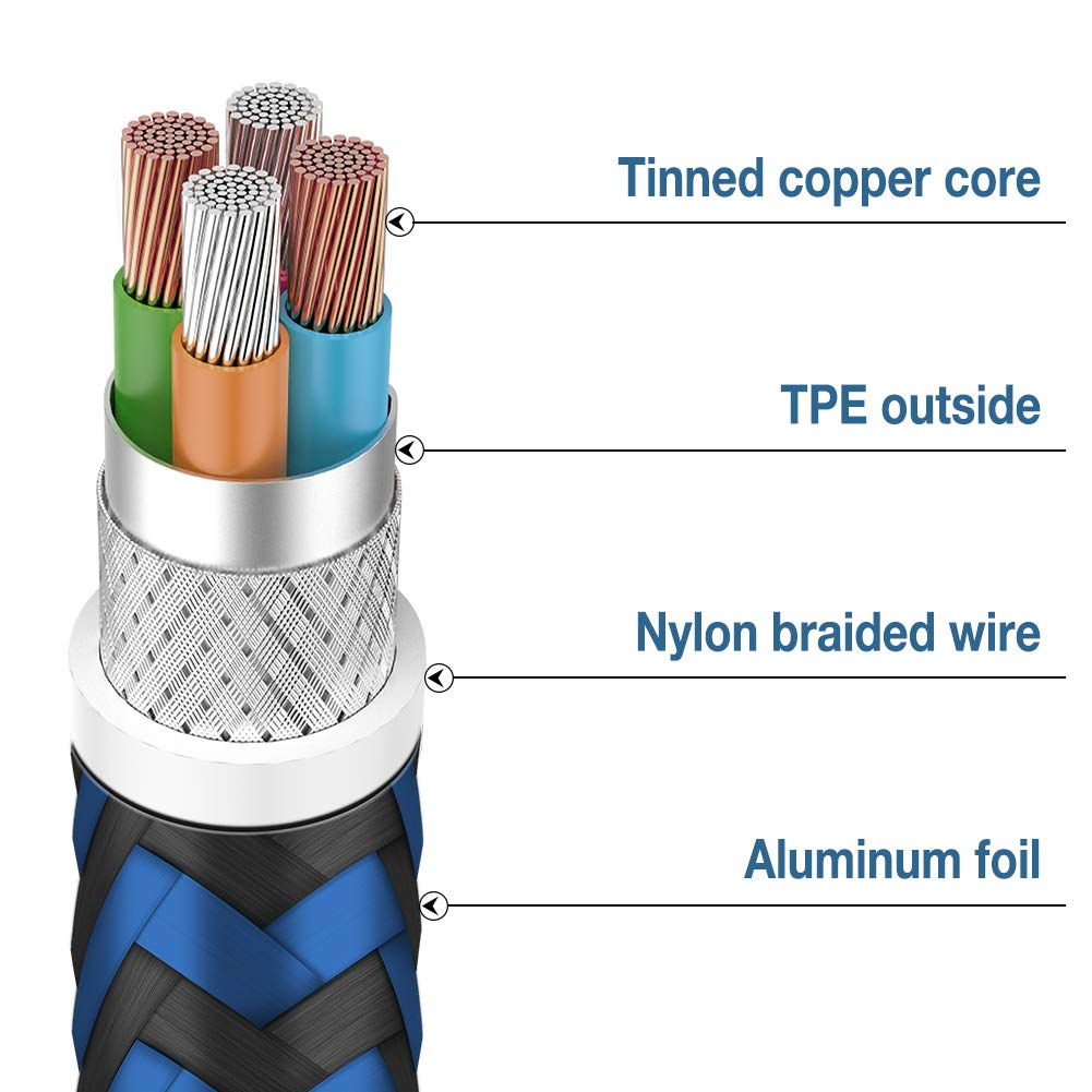 MFi Certified Phone Charger Cable,WUXIAN【5PACK 3FT//3FT//6FT//6FT//10FT】 Extra Long Metal Joint Nylon Braided Fast Charging Compatible with iPhone XS//MAX//XR//X//8//8//Plus//7//7 plus//6s// 6s Plus-Silver/&Gray