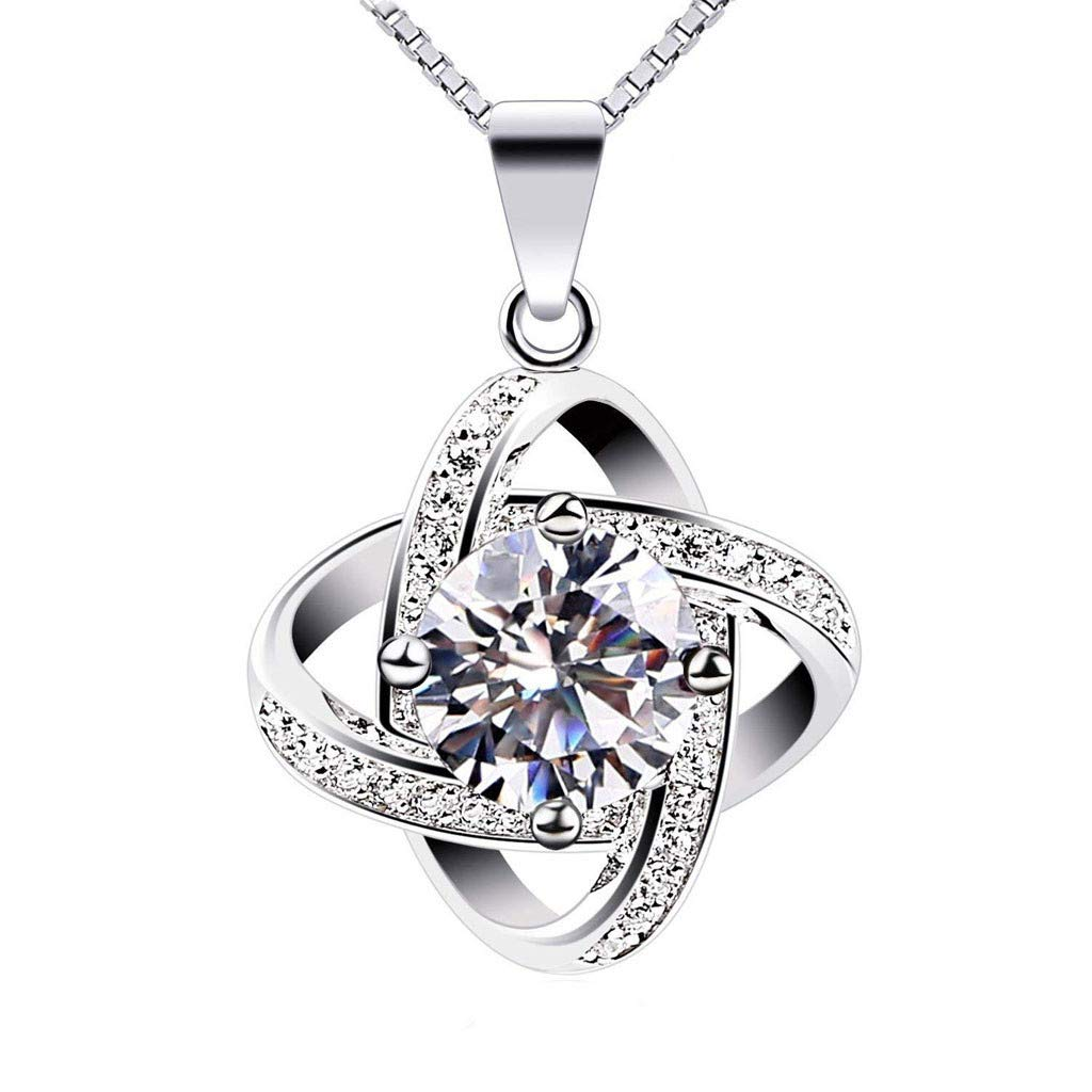 Elegant Retro Necklace, Fashion Jewelry Charm Silver Plated Pendant Hollow Necklace (Silver)