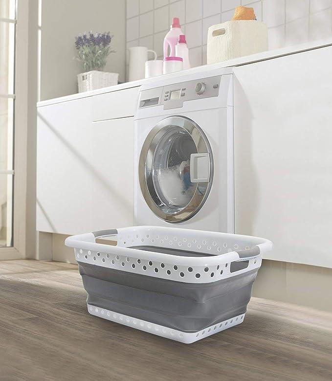 stabiler Klappbarer Korb f/ür Ihre Waschen Attraktive Farbe Faltbarer W/äschesammler von Pop /& Laden ordentlich platzsparend Korb Gro/ß wenn Sie es Speichern m/üssen Sauber