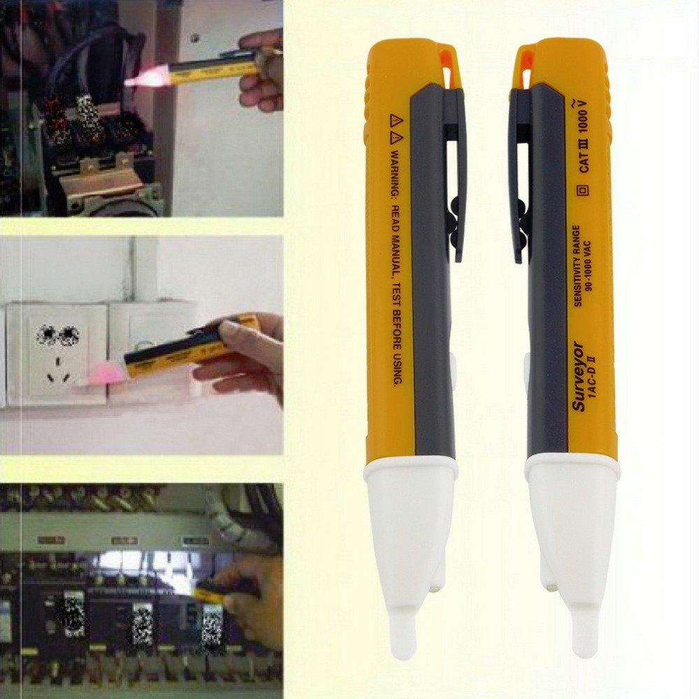1PCS Electric indicator 90-1000V Socket Wall AC Power Outlet Voltage Detector Sensor Tester Pen LED light New